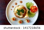 delicious and delicious food in ... | Shutterstock . vector #1417218656