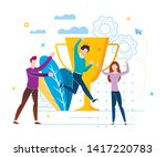 victory with prize fund vector... | Shutterstock .eps vector #1417220783