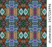 american pattern. ikat seamless ...   Shutterstock . vector #1417226996