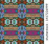 aztec pattern. seamless african ... | Shutterstock . vector #1417226999