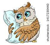 cute owl cartoon vector  bird... | Shutterstock .eps vector #1417230440