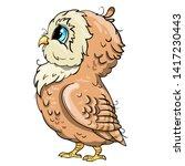 cute owl cartoon vector  bird... | Shutterstock .eps vector #1417230443