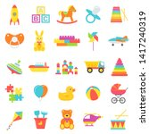 baby toys isolated. vector. set ... | Shutterstock .eps vector #1417240319