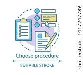 choose procedure concept icon.... | Shutterstock .eps vector #1417247789