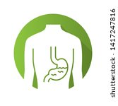 healthy stomach flat design... | Shutterstock .eps vector #1417247816