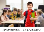education and people concept  ... | Shutterstock . vector #1417253390