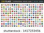 220 international flag set in... | Shutterstock .eps vector #1417253456
