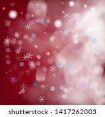 realistic vector snowfall on... | Shutterstock .eps vector #1417262003