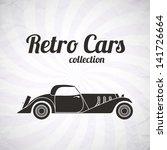 retro cabriolet sport car ... | Shutterstock .eps vector #141726664