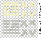 adhesive tape pieces set ...   Shutterstock .eps vector #1417269659