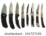 knife collage isolated on a... | Shutterstock . vector #141727150