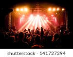 Rock Concert  Silhouettes Of...