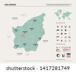 vector map of san marino.... | Shutterstock .eps vector #1417281749