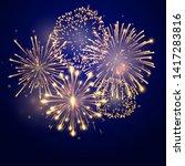 fireworks bursting in various... | Shutterstock .eps vector #1417283816