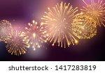 fireworks bursting in various... | Shutterstock .eps vector #1417283819