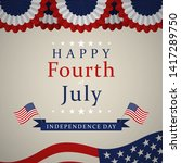 happy independence day   fourth ... | Shutterstock .eps vector #1417289750