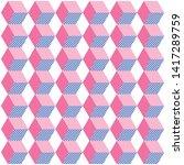 the geometric pink pattern.... | Shutterstock .eps vector #1417289759
