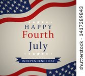 happy independence day   fourth ... | Shutterstock .eps vector #1417289843