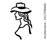 vector illustration of woman in ... | Shutterstock .eps vector #1417298600