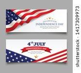 celebration flag of america... | Shutterstock .eps vector #1417309973