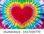 Heart Sign Tie Dye Pattern Han...