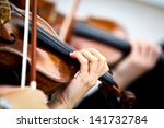 Detail Of Violin Being Played...