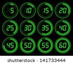 digital timer green | Shutterstock .eps vector #141733444