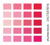 Red Color Palette Vector...