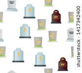 headstone  gravestone ... | Shutterstock .eps vector #1417342400