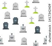 headstone  gravestone ... | Shutterstock .eps vector #1417342409