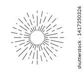 sun rays drawn symbol. sunlight ... | Shutterstock .eps vector #1417350326