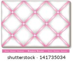 ribbon bulletin board. tuck... | Shutterstock . vector #141735034