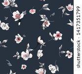 cute floral seamless pattern... | Shutterstock .eps vector #1417351799