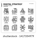 digital strategy icon set for... | Shutterstock .eps vector #1417354979