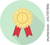 flat icon of gold medal with... | Shutterstock .eps vector #1417357856