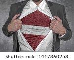 business man show t shirt flag...   Shutterstock . vector #1417360253