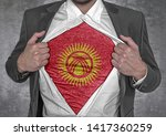 business man show t shirt flag...   Shutterstock . vector #1417360259