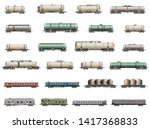 vector set of isolated detailed ... | Shutterstock .eps vector #1417368833