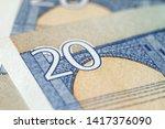 fragment of twenty euro bills...   Shutterstock . vector #1417376090