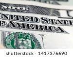 dollar bills of different value ...   Shutterstock . vector #1417376690
