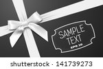 white bow on a black textural... | Shutterstock .eps vector #141739273