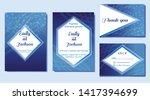 set of wedding invitation card  ... | Shutterstock .eps vector #1417394699