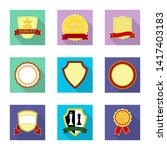 bitmap illustration of emblem... | Shutterstock . vector #1417403183