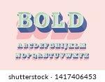 beveled bold serif typography... | Shutterstock .eps vector #1417406453