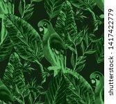 beautiful watercolor seamless...   Shutterstock . vector #1417422779
