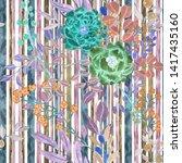 watercolor seamless pattern... | Shutterstock . vector #1417435160