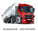cartoon semi tanker truck....   Shutterstock .eps vector #1417441340