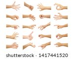Multiple Hand With Gestures Of...