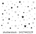 background of hand drawn star... | Shutterstock .eps vector #1417442129