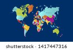 color world map vector modern | Shutterstock .eps vector #1417447316
